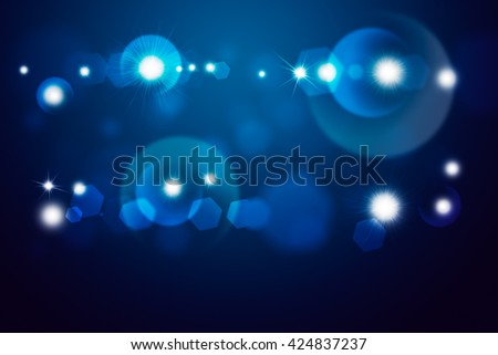 Blue light beam. Abstract background for design - stock photo