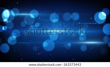 blue light reflection on glass. computer generated abstract background - stock photo