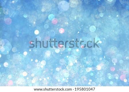Blue lights background - stock photo