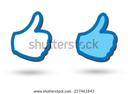 blue like  - stock photo