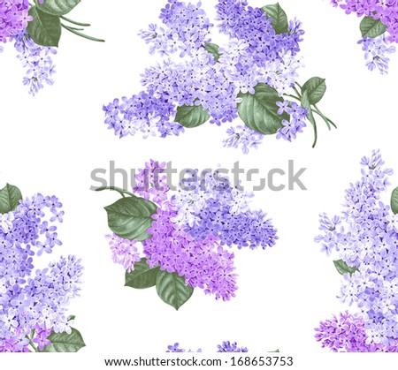 Blue lilacs - stock photo