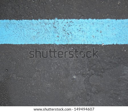 blue line sign - stock photo