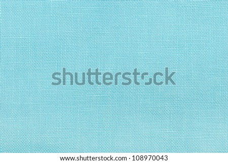 blue linen texture background - stock photo