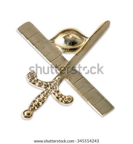 Blue Lodge officerJewel. Expert. Freemasonry - stock photo