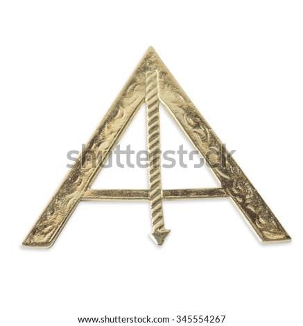 Blue Lodge officerJewel. Senior Warden. Freemasonry - stock photo