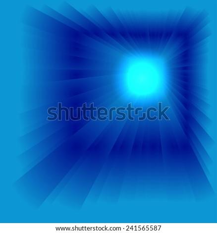 Blue luminous rays  - stock photo