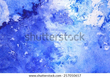 Blue Macro Watercolor 4 - stock photo