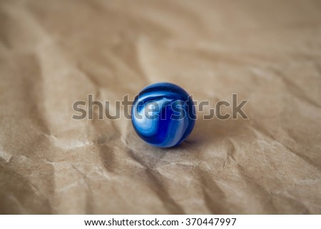 Blue marble - stock photo