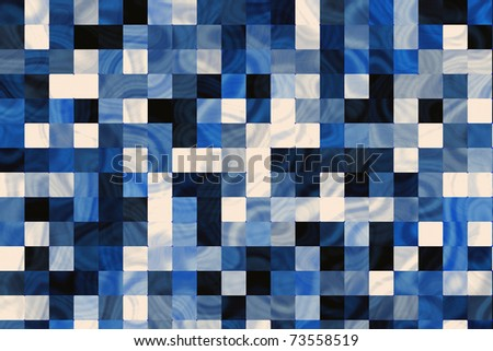 Blue marble tiles background. - stock photo
