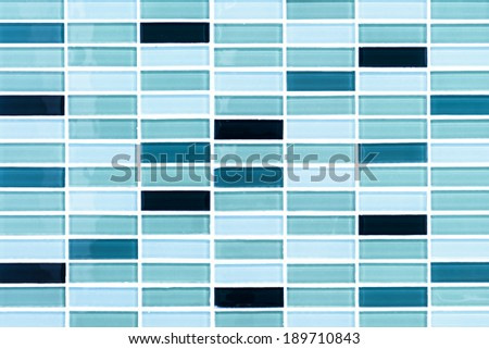Blue marine mosaic tiles background - stock photo