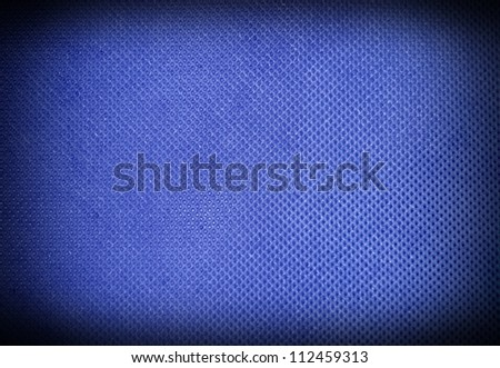 Blue material background or texture - stock photo