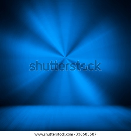 blue metal space background - stock photo