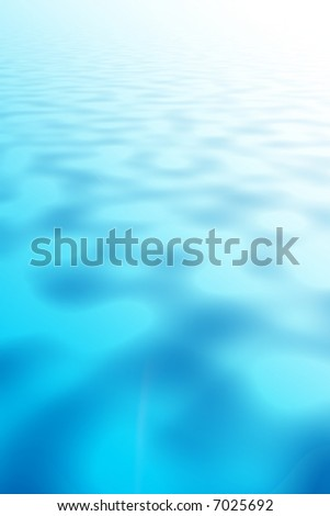Blue Metallic rippled paint pool abstract background - stock photo