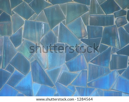 Blue Mosaic - stock photo