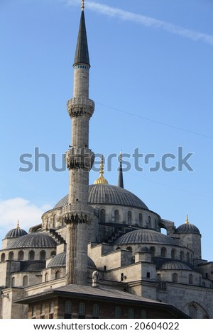 blue mosque in Istanbul - stock photo