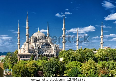 Blue mosque, Istanbul, Turkey - stock photo
