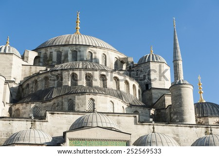 Blue Mosque (Mosque of Sultan Ahmet) in Istanbul, Turkey - stock photo