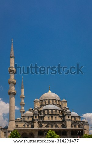 Blue Mosque (Sultanahmet Camii) in Istanbul, Turkey - stock photo