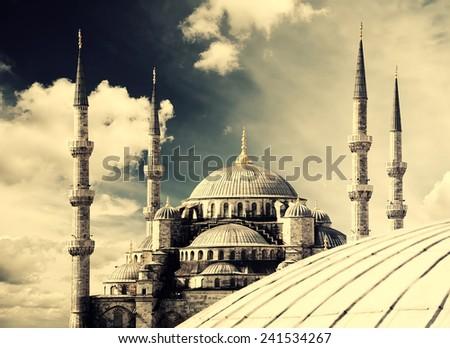 Blue Mosque (Sultanahmet Camii), Istanbul. - stock photo