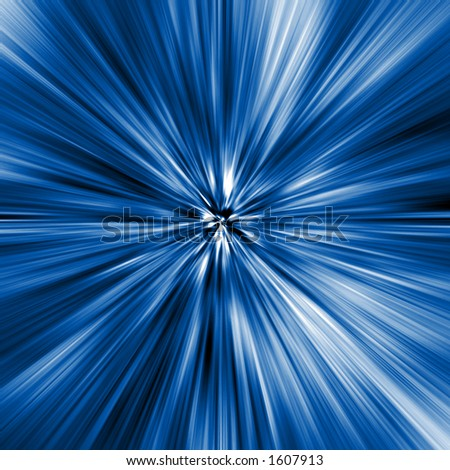 Blue Motion Abstract - stock photo
