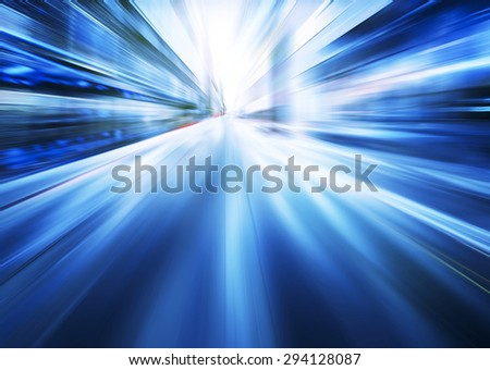 blue motion blur background - stock photo