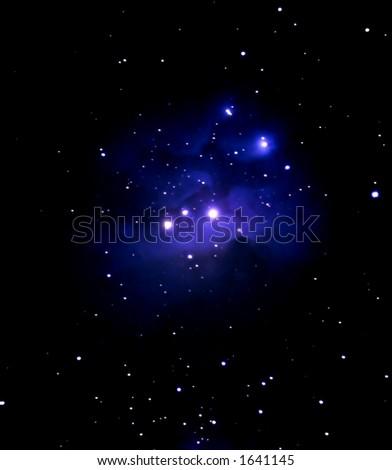 Blue Nebula - stock photo
