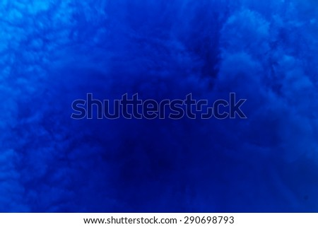Blue night clouds in deep color - stock photo