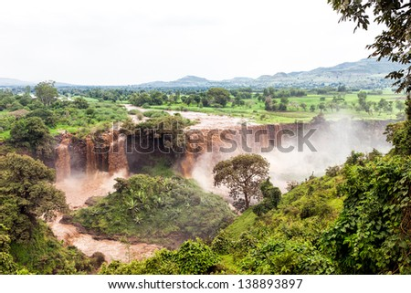 Blue Nile Falls in Bahir Dar, Ethiopia - stock photo