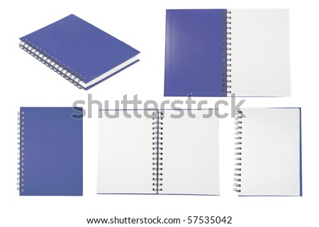 blue notebook collection - stock photo