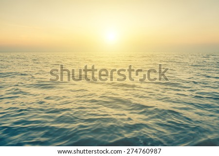 blue ocean background. concept about sea, nature, seascapes, vacations - stock photo