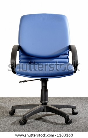 blue office chair - stock photo