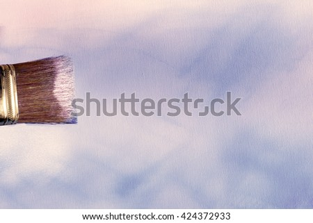 blue oil painted canvas - stock photo
