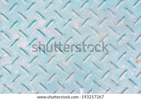 Blue old metal background with rivets. Vintage abstract texture with shading borders.  - stock photo