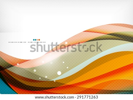 Blue orange line concept, graphic message background - stock photo