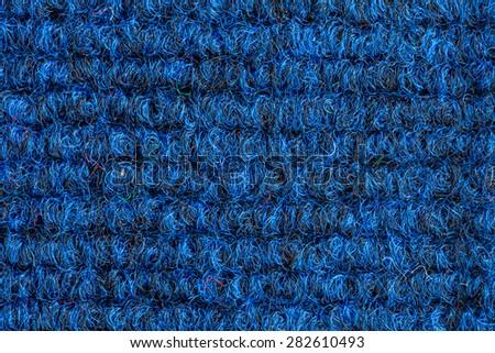 blue orange striped fabric as background - stock photo