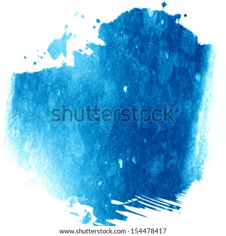 blue paint background with some smooth lines in it - stock photo