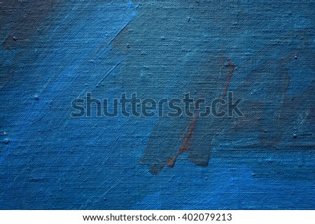 blue painted grunge linen cloth art background and texture - stock photo
