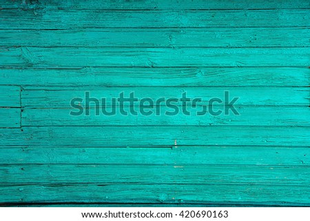 blue painted old wooden background - stock photo