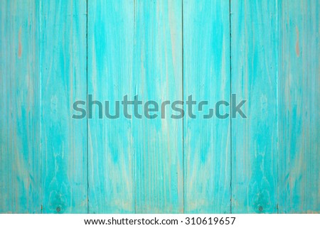 Blue painted wooden wall,can be used as background - stock photo