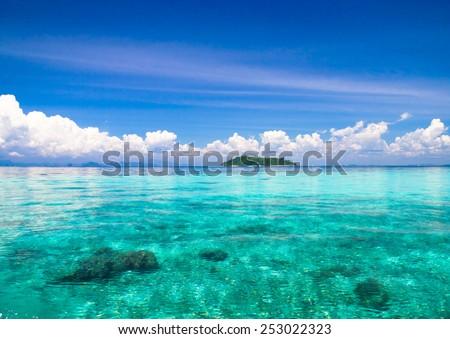 Blue Paradise Marine Fantasy  - stock photo