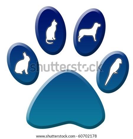 Red dog paw logo - photo#52