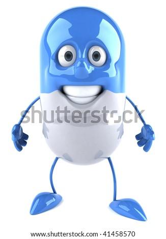 Blue pill - stock photo