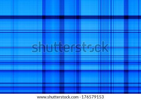 Blue Plaid Background - stock photo