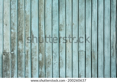Blue plank wooden wall background texture - stock photo