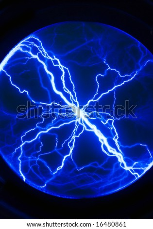 blue plasma background/texture - stock photo