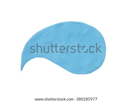 Blue plasticine bubble isolated on white - stock photo