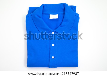 blue polo shirt   - stock photo