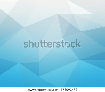 Blue Polygon Texture - stock photo