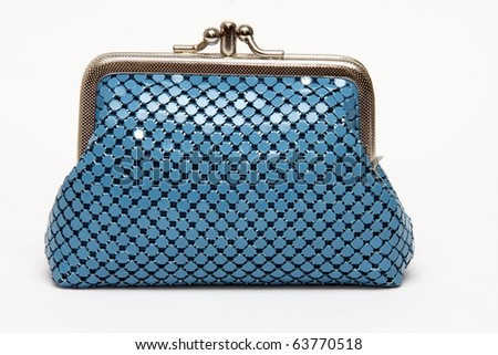 Blue pouch - stock photo