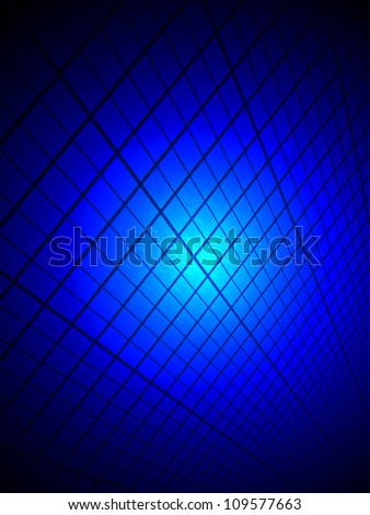 blue power light over industrial surface, unknown schience details - stock photo